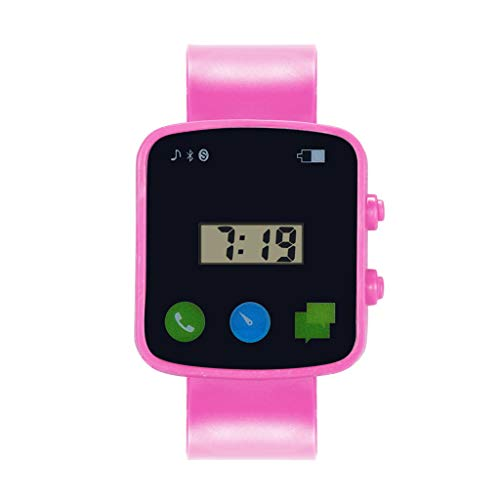 riou Reloj Digital para Niños Niña,Luz Intermitente LED de 5 Colores Reloj de Pulsera Niña Multifunción con Pantalla Impermeable para Niños,Niñas Reloj Infantil Aprendizaje para Niños