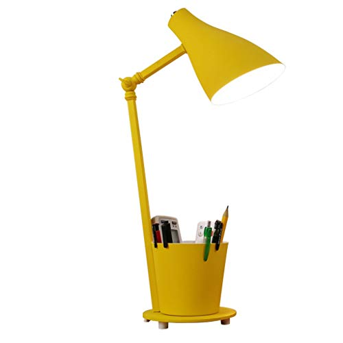 Lámpara de mesa Lámpara de mesa lámpara de escritorio de la Noche de los niños de luz LED regulable Eye-Cuidado lindo Titular de Estudio for Ministerio del Interior del dormitorio de la pluma Noche Lá