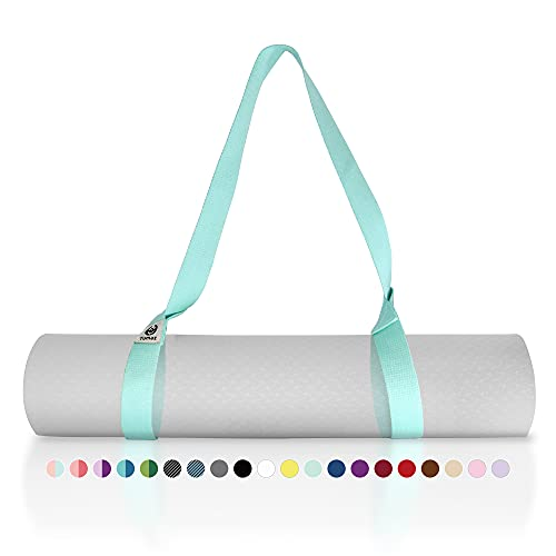 Tumaz Yoga Mat Strap [MAT NOT Included] (15+ Colors, 2 Sizes Options) with Extra Thick, Durable and Comfy Delicate Texture   The Must-Have Multi-Purpose Strap/Carrier for Your Yoga Mat, Exercise Mat