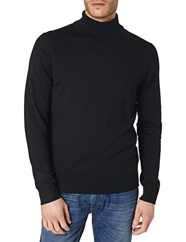 Jack & Jones JPRBLAFAST Knit Roll Neck ZAL Suéter, Negro, M para Hombre