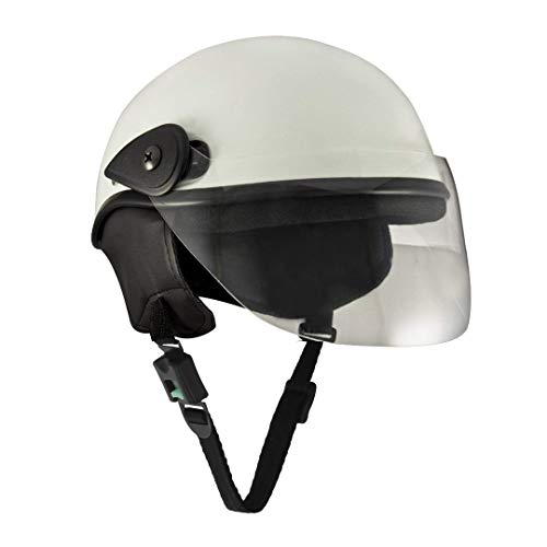 Sage Square Scooty Half Helmet for Men, Women (White Glossy, Small)