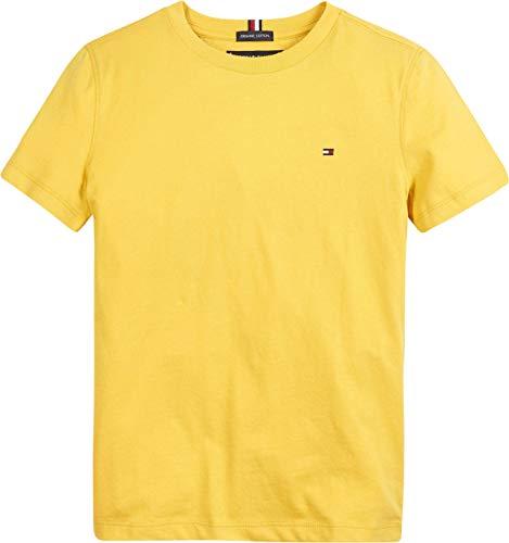 Tommy Hilfiger Essential CTTN tee S/S Camiseta, Midway Amarillo, 16 años para Niños