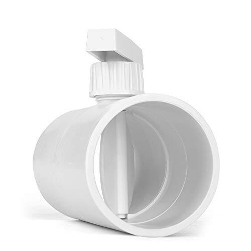 Válvula Reguladora De PVC Válvula De Mariposa De Conducto De Aire Manual Control De Volumen De Aire Redondo Ajustable Fácil Operación Y Cómodo De Usar Para Producción Y Uso De Tuberías De Vida
