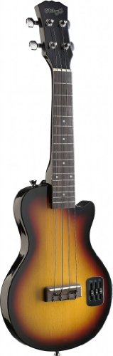 """Stagg EUK S-SB""""S""""-style Electric Ukulele w/solid body"""