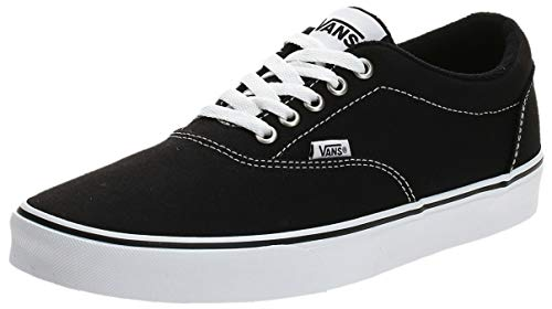Vans Herren Doheny Sneaker, Schwarz ((Canvas) Black/White 187), 42 EU