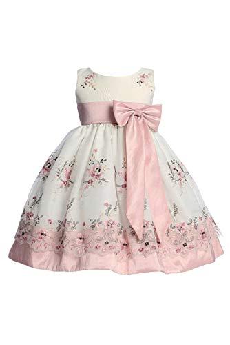 Pink Princess Toddler Easter Dresses for Girls, Baby Girls' Special Occasion Dresses, Vestidos para Niñas Elegantes Size Dusty Rose