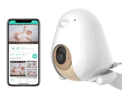 Cubo Ai Plus Smart Babyphone und 3-Ständer-Set | HD-Nachtsichtkamera mit intelligenten Baby-Sicherheitswarnungen, Schlafanalyse und Zwei-Wege-Audio | iOS, Android und Smart Home-kompatibel