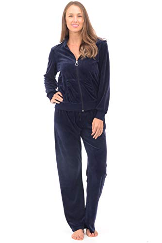 Patricia Lingerie Womens Soft Velour Zip Hoodie and Bottoms Lounge Tracksuit...