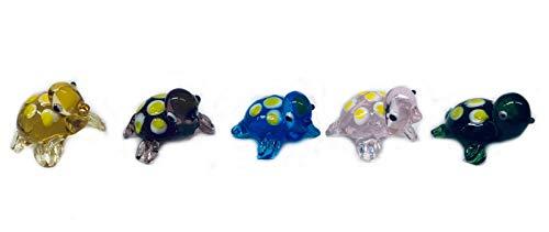 6 tartarughe portafortuna e animali di forza – statuette in vetro colorato di WWW.Vienna-Fashion.at – Vienna Austria – vetrina decorativa (554)