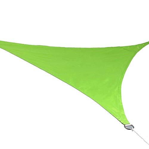 Party zonnebrandcrème luifel luifel driehoek zonwering zonwering bescherming outdoor luifel zwembad schaduw zeil luifel camping picknick tent (kleur: fruit groen, grootte: 5x5x5m)