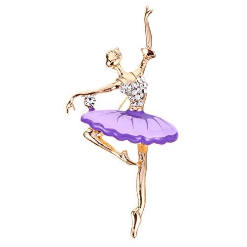 STOBOK Broches de Bailarina de Ballet con Diamantes de Imitación Broches de Cristal para Bailarina de Ballet Broches de Broche Broches Elegantes para Mujer Broches para Mujer Regalos de