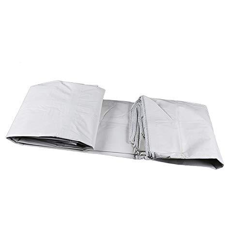 LJQ FSB ZXQZ wasserdichte Plane Plane - Weiße wasserdichte Plane Sonnenschutz-Überdachung Carport-Tuch Plastiktuch LKW-Plane Plus Dicke Einfach zu faltende Plane Visier Tuch (größe : 8M×10M)