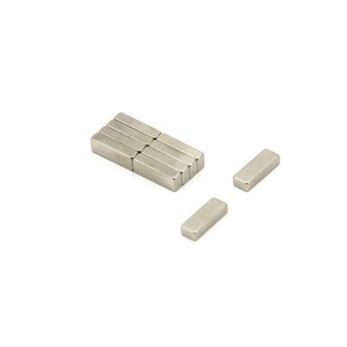 First4magnets MOD9-10 10 x 3,5 x 2,25 mm dicken N45 Neodym-Magneten - 0,9 kg ziehen (Packung mit 10), silver, 25 x 10 x 3 cm, Stück