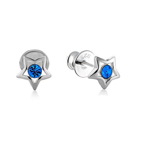 butterfly Bambine Ragazze Orecchini da Donna Argento blu Swarovski Elements Originali Stella Sacchetto Stoffa Regalo di Conferma