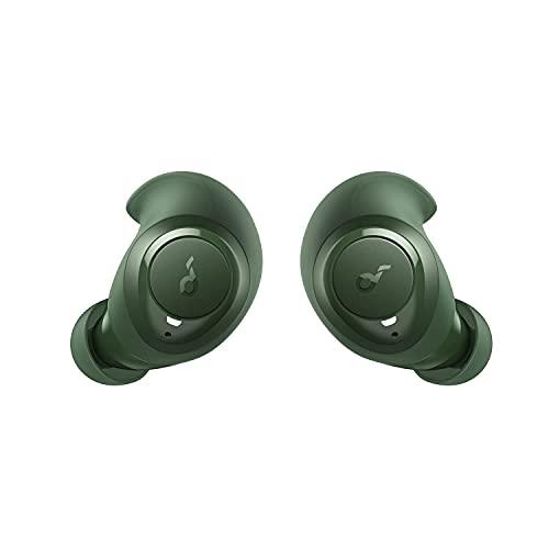 Soundcore by Anker Life Dot 2 True Wireless Kopfhörer, 100h Akkulaufzeit, 8mm Audiotreiber, Fantastischer Sound, Bequeme AirWings, Bluetooth 5, ideal für unterwegs, Sport, Workout, auf Reisen (grün)