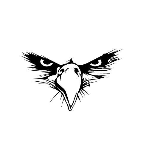 CZJMCT-DQ - Adhesivo de vinilo para coche (15,5 x 9,5 cm), diseño de águila americana, color negro y plateado