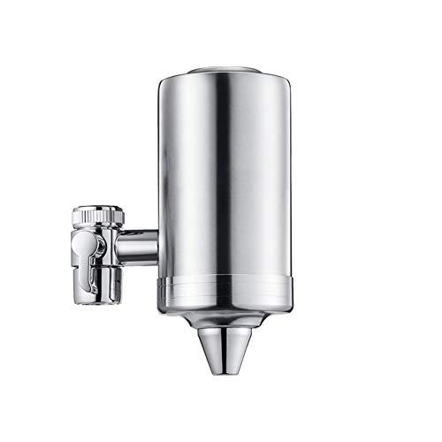 Purificador de agua para grifo purificador de agua para grifo de acero inoxidable 304, elemento ultrafiltro de 0,01 micrones, elimina flúor, cloro, plomo, apto para grifos estándar de cocina doméstica