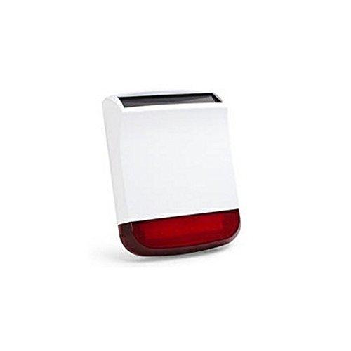 Home Defender - Idata af-hdl260 - sirena 120db con lampeggiante wireless ricarica solare per antifurto