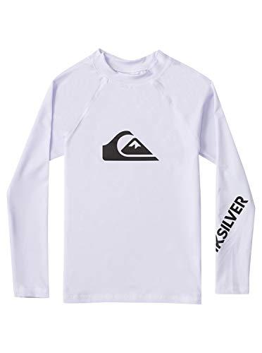 Quiksilver Jungen All Time Rash-Guard-Shirt, Weiss, 3