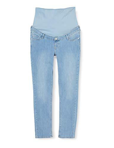 ESPRIT Maternity Damen Pants Denim Slim OTB Umstandsjeans, Blau (Lightwash 950), W29/L32 (Herstellergröße: 36/32)