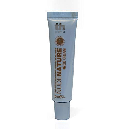 TH Pharma BB Cream Nudenature con Células Madre Vegetales Activas/Maquillaje en Crema/Base de Maquillaje con Células Madre Vegetales, FPS 20, Nº20, 30ml