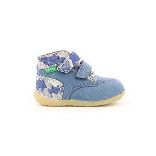 Kickers Bonkro 2 - Zapatos para bebé niño, Azul (Bleu Camouflage), 24 EU