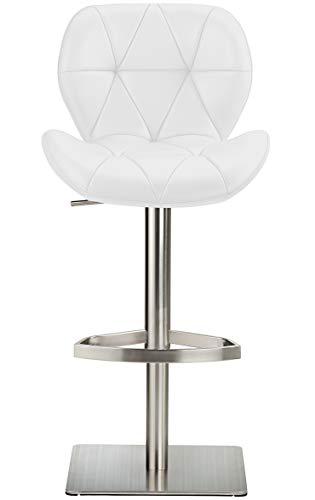 Profil Luxus Barhocker Echtleder - Weiß