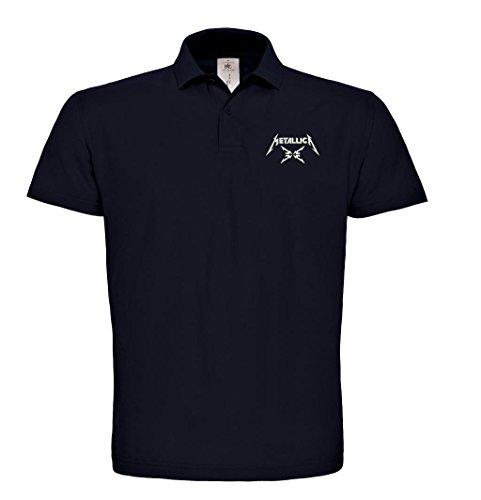 caprica91 Metallica Bestickte Poloshirt, super Premium-Qualität, 100% Baumwolle - 125 (XL)