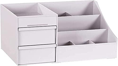 OH Desktop-Speicherorganisator Bleistift-Karten-Make-Up-Bürsten Halter-Box Container-Schublade Kosmetik-Schmuck-Süde-Hülle 3 Schichten tragbar