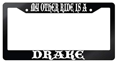 Yohoba My Other Ride is A Drake Glossy Black Plastic License Plate Frame Fantasy