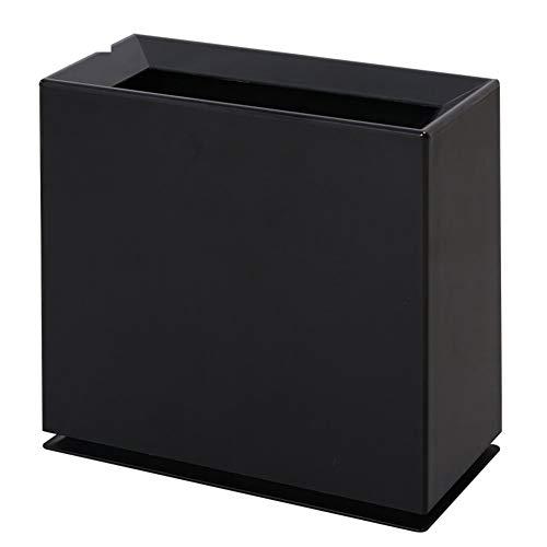 Poubelle- Poubelle classifiée, poubelle carrée en plastique double couche sans couvercle, convient au salon de la cuisine (Couleur : Noir)