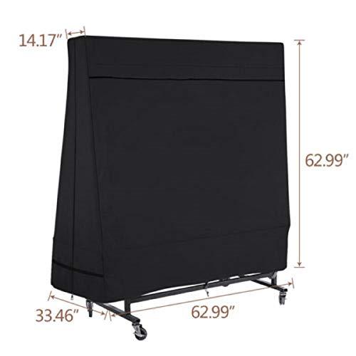 dDanke zwart tafeltennistafel stofdicht Oxford stof Ping Pong tafelkleed voor binnen en buiten