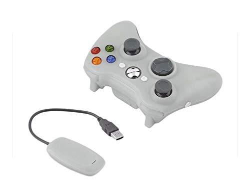 Game Controller, 2.4G Wireless Gamepad Für Xbox 360 Console Controller Receiver Control Für Microsoft Für Xbox 360 Game Joystick Für PC Win7 / 8 / 10-2.4G Receiver White-