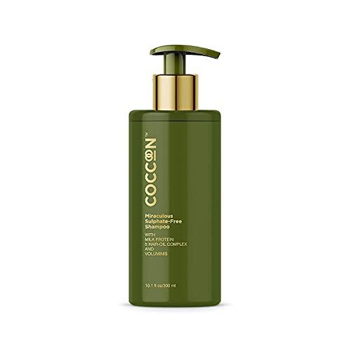 Glamorous Hub Coccoon Miraculous Sulfato Free Shampoo Mujeres y Hombres | Todo Tipo de Cabello | Con Proteína de Leche Activos Naturales y 5 Aceites Esenciales para el Cabello 300Ml