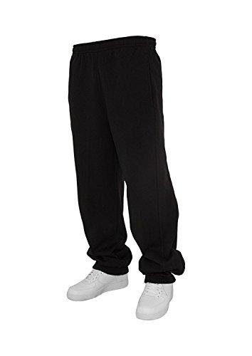 Urban Classics Jogginghose Sweatpants Trainingshose Tanzhose blanko zum Bedrucken Blank schwarz grau dunkelgrau charcoal S bis 5XL Farben Männer Herren Sporthose Fitnesshose Dance Hose (3XL, schwarz)