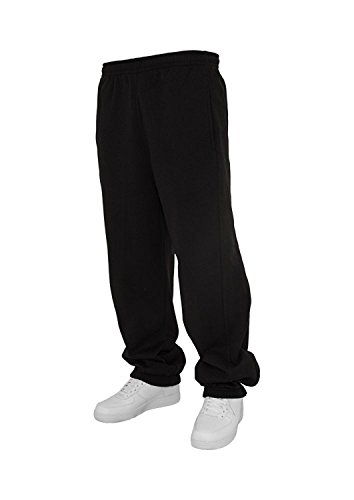 Urban Classics Jogginghose Sweatpants Trainingshose Tanzhose blanko zum Bedrucken Blank schwarz grau dunkelgrau charcoal S bis 5XL Farben Männer Herren Sporthose Fitnesshose Dance Hose (S, schwarz)