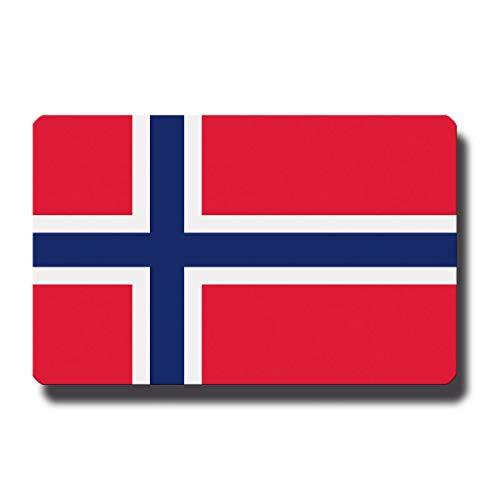 Kühlschrankmagnet Flagge Norwegen - 85x55 mm - Metall Magnet mit Motiv Länderflagge