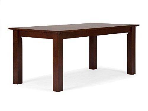 massivum Esstisch Bologna 150x75x90 cm Rubberwood braun gebeizt und lackiert