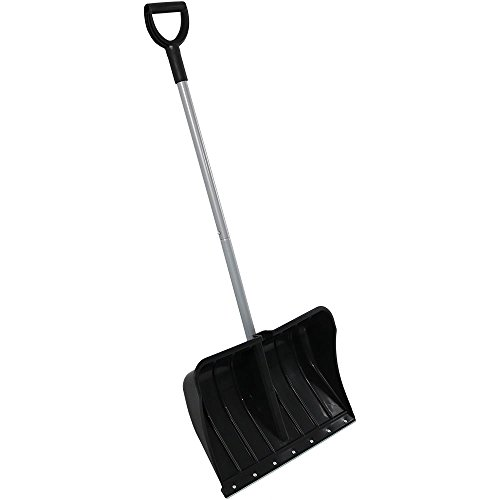Review CASL Brands Aluminum Snow Shovel with D-Grip Handle and Heavy-Duty Metal Wear Strip - Adjusta...