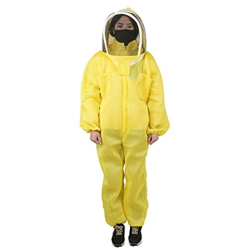 MINGMIN-DZ Dauerhaft 1 Satz gelb hellgrüne Biene Anzug for Imker Anzug Bienen Kleidung atmungsaktiv Anzug Anti Biene Anzug Bienenzucht liefern Werkzeuge (Color : Yellow, Size : XXL)