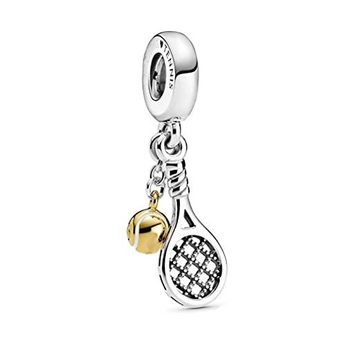 Pandora 925 Sterling Silbertrendy Bead Tennisschläger baumeln Charm Fit Original Charms Women diy Love Jewelry