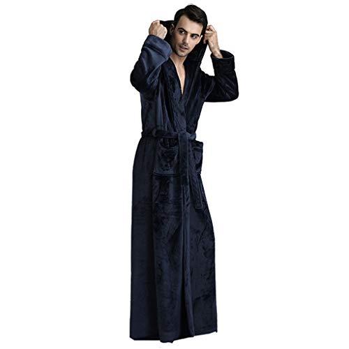 Albornoz de lujo para mujer y hombre, bata con capucha, bata de baño para mujer, forro polar, bata larga cálida, ropa de dormir ligera para invierno