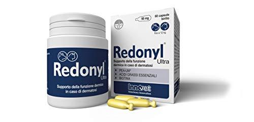 Innovet Redonyl Ultra 50 mg Supporto della funzione dermica in caso di dermatosi ed eccessiva perdita di pelo per cani e gatti - Confezione da 60 capsule birillo monodose