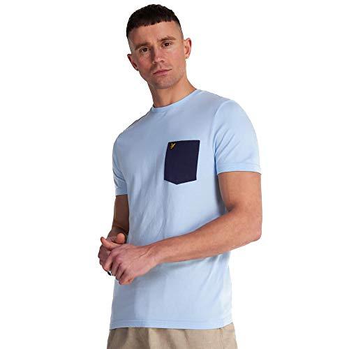 Lyle & Scott Mens Contrast Pocket T-Shirt - Pool Blue Navy-M