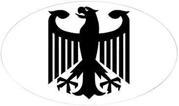 Duitse Eagle Oval Sticker Stickers Vinyl Auto Stickers Bumper Stickers Grappige Stickers voor Laptop, voor Kinderen, Kerstcadeaus