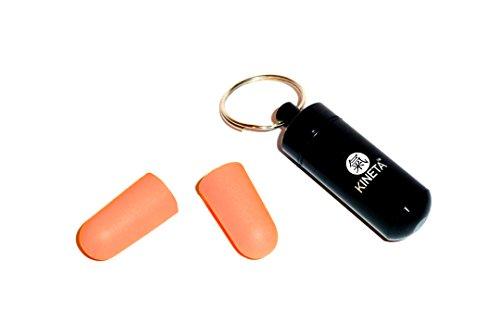Gehör Ohr Plug Bildschirmschutzfolien von Kineta TM. * * FLASH SALE * * Noise Filter Schutz Ear Plugs & Metall Schlüssel Ring Halter.