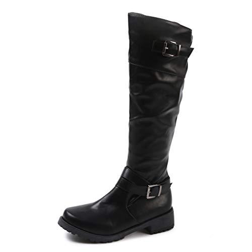 UMore Botas de Mujer Otoño Invierno 2021 Tacon Bajo Zapatos Largas Botas Forrado de Piel...