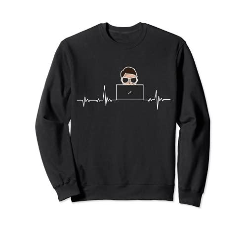 IT Computer Heartbeat - Profesión de Informático Sudadera