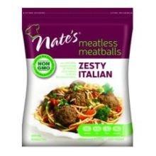 Nates Zesty Italian Meatless Meatballs, 10.5 Ounce - 12 per case.