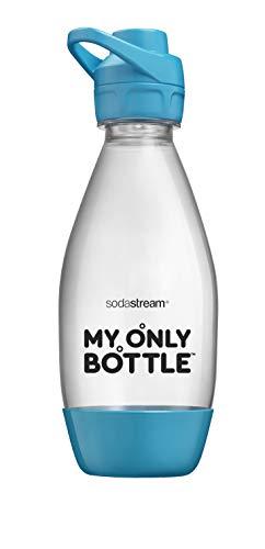 Sodastream Wassersprudler My Only Bottle Sport, kleines Modell 0,5 l, tragbar, für unterwegs, spülmaschinenfest, Farbe: Blau, Material: Tritan, BPA-frei